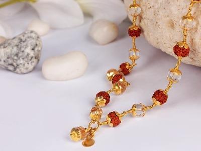 Rudraksha Beads With Gold Mala | Rudraksha  Mala