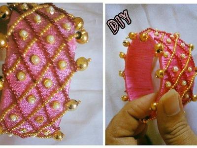 Silk thread bangle - How to make this bangle   jewelry tutorials