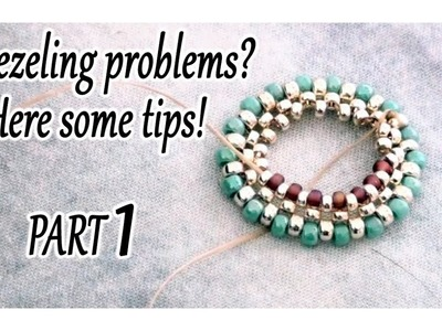 Solving problems when you are bezeling something with beads. Part 1