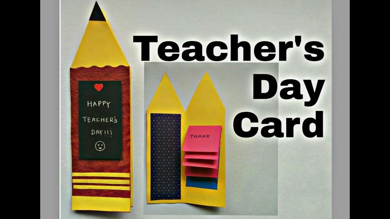 teachers day card diy  handmade card for teacher