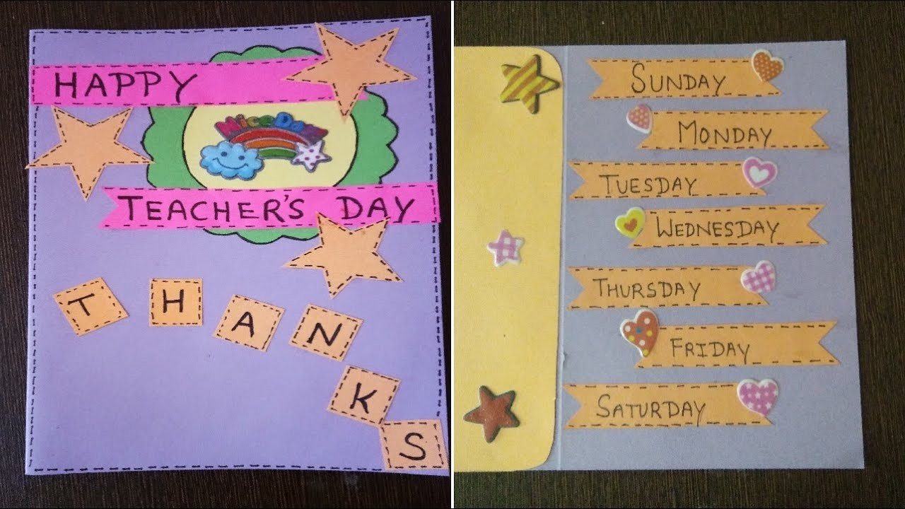 Teachers Day Handmade Greeting Card Making Idea | TukkuTV
