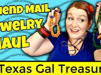 Vintage Jewelry Haul 2017 - Bakelite Bangles, Amber, Sterling Silver - Friend Mail Sharon Fiffer