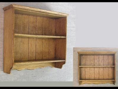 1.12th Scale Cottage Style Wall Shelf Tutorial