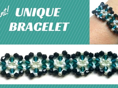 Beaded tutorial for a unique bracelet- very easy tutorial -