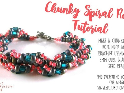 Chunky Beaded Spiral Rope Tutorial