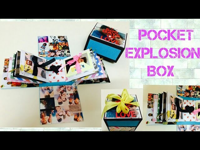 Cute and Simple Explosion Box.DIY Explosion Box For Boyfriend.Birthday Gift Ideas at home.Scrapbook
