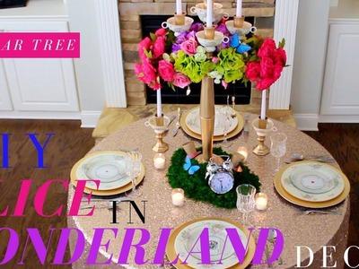 DIY ALICE IN WONDERLAND DECOR   DOLLAR TREE WEDDING DECOR   DIY TEA PARTY DECOR