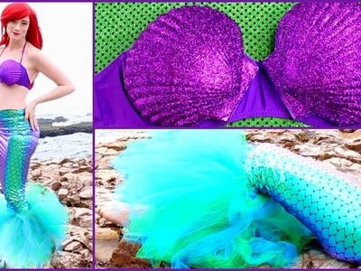 DIY Ariel Halloween Costume, Disney's The Little Mermaid   Mermaid Costume: Tail and Shell Top ????