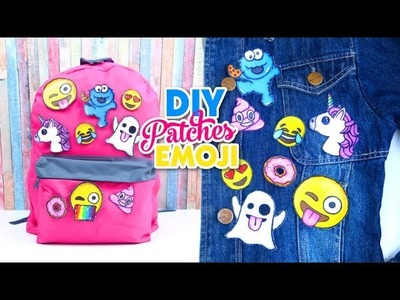 DIY CUSTOM Backpacks for Back to School 2017! with EMOJI PATCHES Isa's World