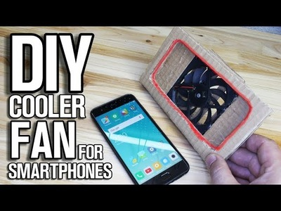 DIY Gaming Cooler Fan from Cardboard for Smartphone