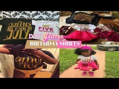DIY GLITTER BIRTHDAY SHIRTS | FUN KIDS PROJECT|