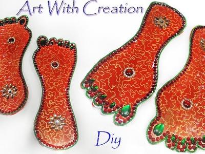 DIY How to make laxmi pug designs at home | pagaliye | laxmi charan | Art With Creation