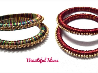 DIY How to Make Silk thread Designer Fancy Bangles at home for Beginers