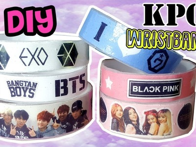 DIY K-POP Wristbands | Exo | BTS | Blackpink | Got7