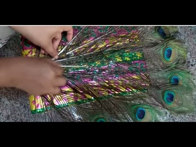 DIY:Parties.Festivals.functions decoration ideas: Peacock decoration