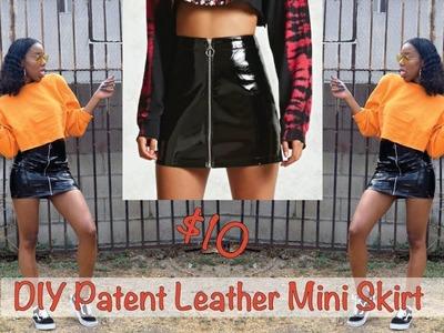 DIY Patent Leather Mini Skirt  $10