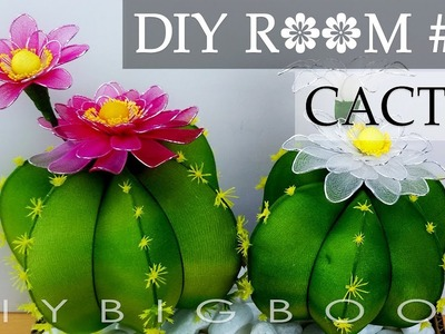 Diy room decor for small rooms girls - How to make Cactus nylon stocking flower