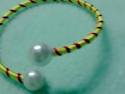 Diy silk thread bracelet || latest design || twisted cute design || trending bracelet||old bangle
