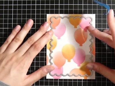 DIY Stencil Making||Cardmaking ||  BIRTHDAY CARD
