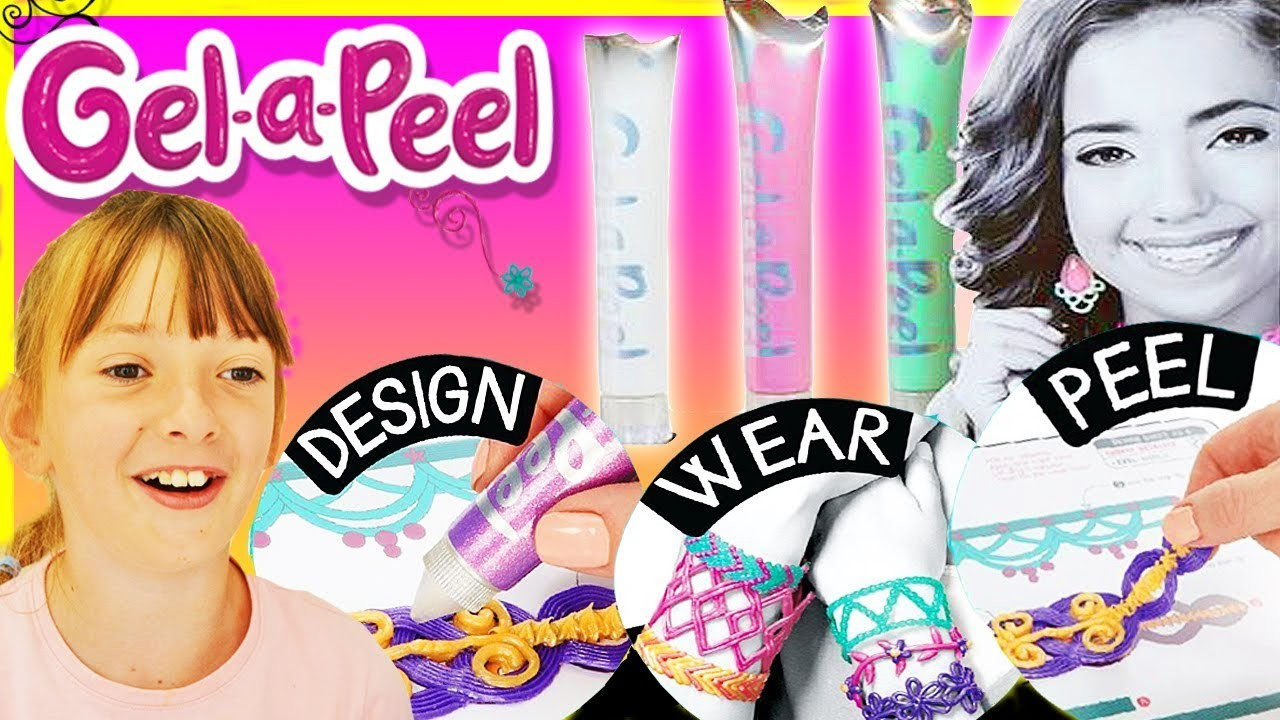 Gel-a-Peel GEL A PEEL 3D Design Pens Set DIY Fun Jewelry Bracelets Toys ABC Children's ToysReview #