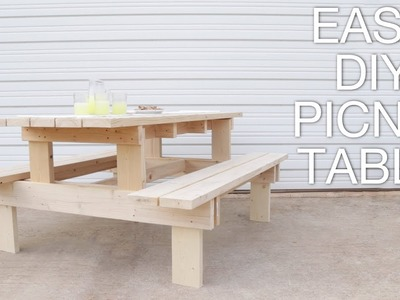 How To Build a Modern Picnic Table | Easy Outdoor DIY | Modern Builds EP. 71