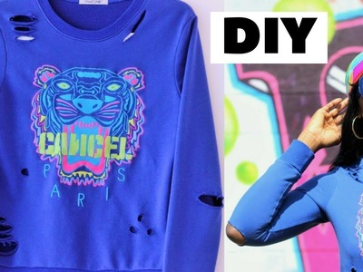 How To: DIY Perfectly Distressed Sweatshirt (Quick and Easy)
