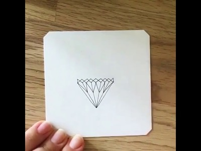 HOW TO DRAW A DIAMOND STEP BY STEP : EASY DIY DRAWING TUTORIAL