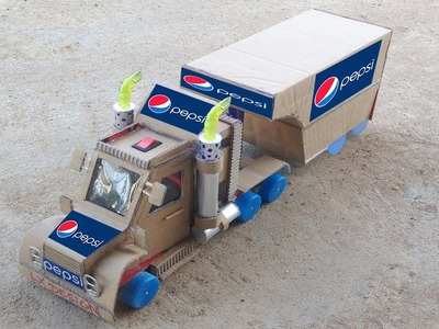 How to Make a Truck with DC motor - Awesome Pepsi Truck DIY at Home