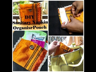 How to make DIY sanitary napkin pouch organiser.must watch for girls.