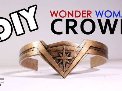 How to Make Wonder Woman Crown From Cardboard