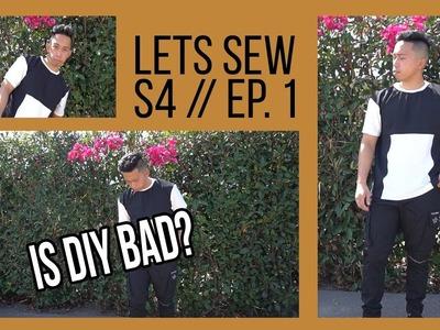 IS DIY BAD? Using Scrap Fabrics & Block tee! | LET'S SEW S4, EP 1