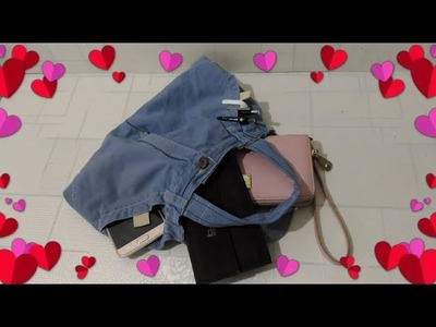 KAWAII DIY ????????  how to make bag with old jeans - DIY Upcycled Denim 5-Minute Crafts Video