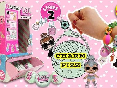 LOL Surprise Dolls Series 2 Charm Fizz: DIY How to Make Charm Bracelets Apply Sticker Tattoo SGL