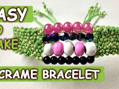 Macrame Four strings bracelet - So easy to make a armlet - Tutorial by Tita