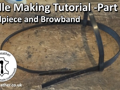 Make your Own Bridle - Bridle Making Tutorial Part 1 - Headpiece and Browband