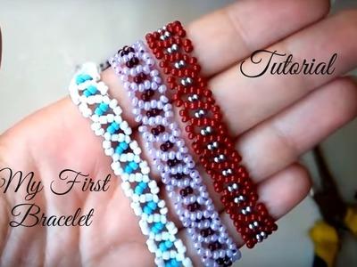 My first beaded bracelet - tutorial for beginners