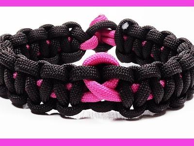 Paracord Bracelet Tutorial: Awareness Bracelet Design Without Buckle