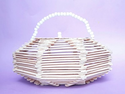Popsicle stick Basket - Tutorial