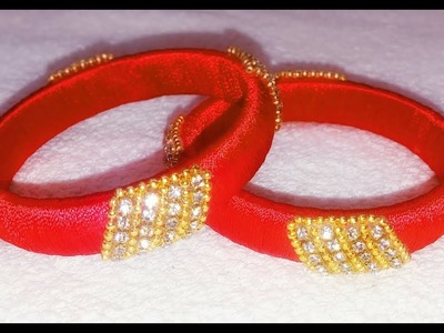 Silk thread bangles.silk thread new design bangles.jewellery making tutorial easy and simple design