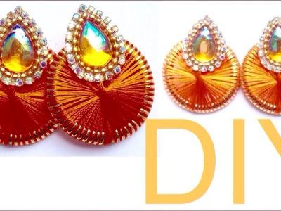 Simple and beautiful silk thread earring || Silk thread jewellery making tutorial