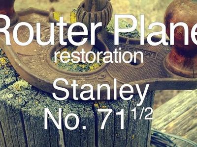 Stanley No. 71 1.2 Antique Router Plane Restoration DIY