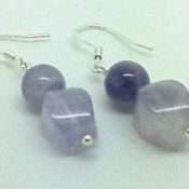 Sterling silver earrings with lavender amethyst.
