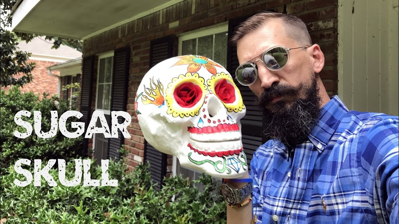 Sugar Skull - Day of the Dead - Dia de los Muertos Skull Tutorial