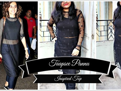 Taapsee Pannu Inspired Top | DIY Fishnet top | How to make a long Top || Pompoms & Tassels