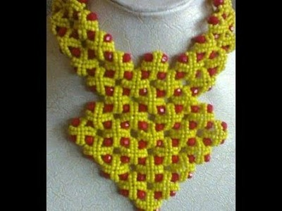 The tutorial on how to make this basket necklace bead