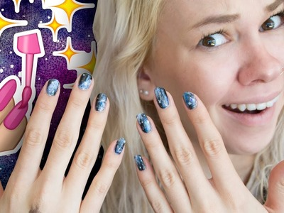 THESE NAILS ARE OUT OF THIS WORLD! -  DIY Galaxy Nails. Treat Yo Self   HISSYFIT