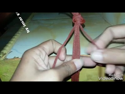 Tutorial handle double spiral macrame