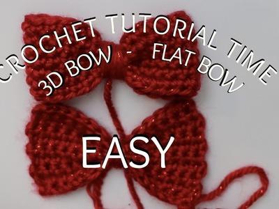 TUTORIAL TIME: 2 BASIC BOW (FLAT & 3D)EASY