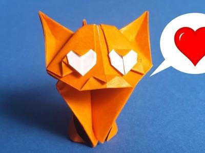 Adorable Origami Cat Easy Tutorial ???? ❤