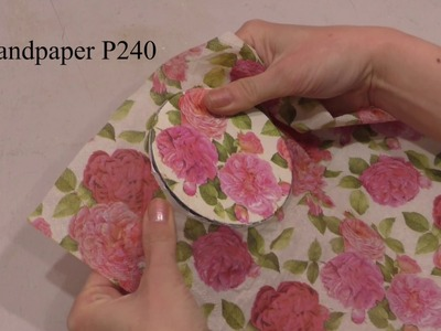 Decoupage lesson #35 Shabby chic jewelry box from recycled plastic cream jar ideas DIY tutorial